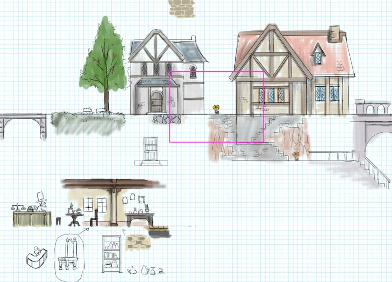 ゲームのマップチップの制作工程(ドールズイングラム・オラトリオ